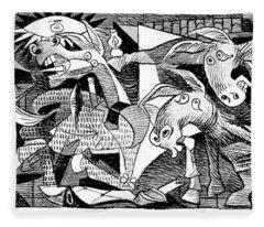Democrat Guernica Fleece Blanket