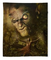 Demonic Evocation Fleece Blanket