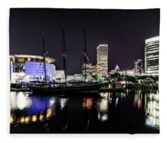 Denis Sullivan At Pier Wisconsin Fleece Blanket