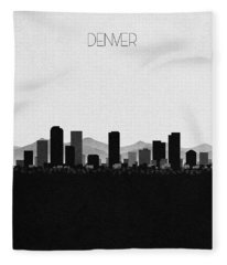Denver Cityscape Art Fleece Blanket