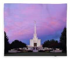 Denver Lds Temple At Sunrise Fleece Blanket