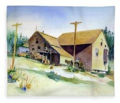 Depot Hill, Dutch Flat,1910 Fleece Blanket