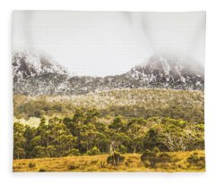 Depths And Ranges  Fleece Blanket