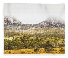 Depths And Ranges  Fleece Blanket