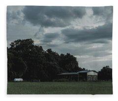 Desaturated Barn Fleece Blanket