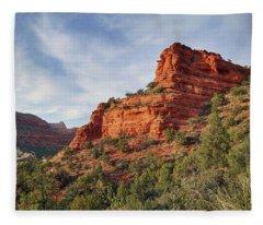 Descending Doe Mountain  Fleece Blanket
