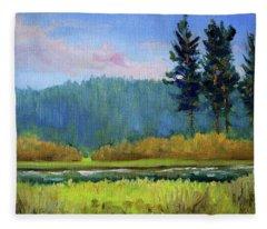 Deschutes River Edge Fleece Blanket
