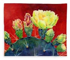 Desert Bloom 3 Fleece Blanket