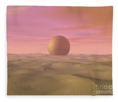 Desert Dream Of Geometric Proportions Fleece Blanket