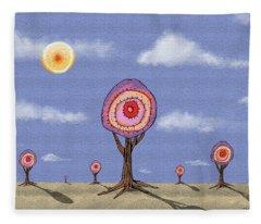 Desert Forest Fleece Blanket