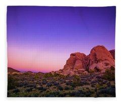 Desert Grape Rock Fleece Blanket