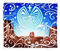 Desert Hallucinogens Fleece Blanket