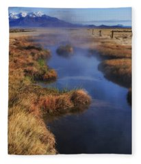 Desert Hot Spring Fleece Blanket