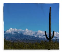 Desert Inversion Cactus Fleece Blanket