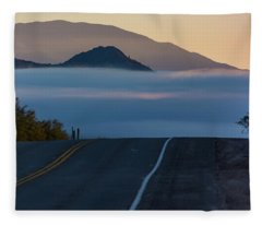 Desert Inversion Highway Fleece Blanket