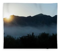 Desert Inversion Sunrise Fleece Blanket