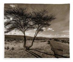 Desert Landmarks  Fleece Blanket