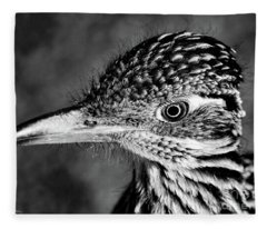 Desert Predator, Black And White Fleece Blanket