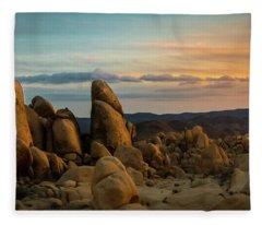 Desert Rocks Fleece Blanket