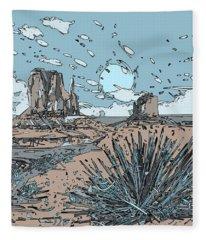 Desert Scene Fleece Blanket