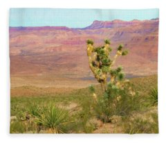 Desert Scene Near Grand Canyon West Fleece Blanket