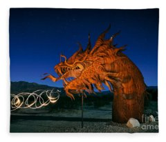 Desert Serpent Fleece Blanket
