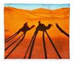 Desert Shadow - Da Fleece Blanket