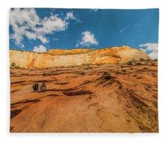 Desert Solitaire With A Friend Fleece Blanket