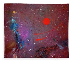 Fleece Blanket featuring the painting Desert Song by Michael Lucarelli