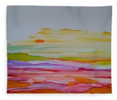 Desert Steppe Fleece Blanket