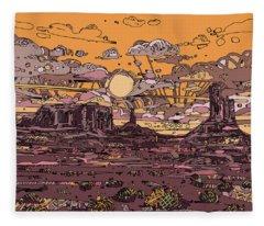 Desert Sunset 2 Fleece Blanket