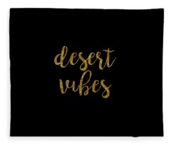 Fleece Blanket featuring the digital art Desert Vibes 2 by Cortney Herron