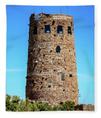 Desert View Watchtower At The Grand Canyon Fleece Blanket