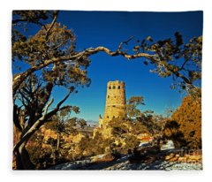 Desert View Watchtower, Grand Canyon National Park, Arizona Fleece Blanket