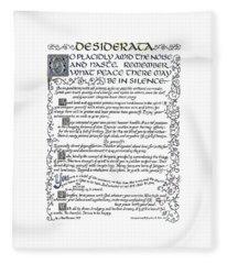 Desiderata-blue Fleece Blanket