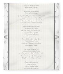 Desiderata In Silver Script By Max Ehrmann Fleece Blanket