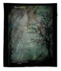 Desiderata Of Happiness - Vintage Art By Jordan Blackstone Fleece Blanket
