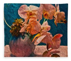 Designer Floral Arrangement Fleece Blanket