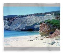 Desolated Island Beach Fleece Blanket