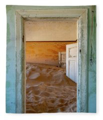 Desolation - Kolmanskop, Namibia Fleece Blanket