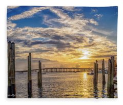 Destin Harbor #1 Fleece Blanket