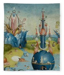 Detail From The Garden Of Earthly Delights  Central Panel Fleece Blanket