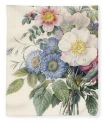 Detail Of Flowers Fleece Blanket
