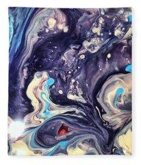 Detail Of Fluid Painting 1 Fleece Blanket