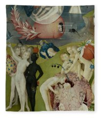Detail Of The Central Panel Of The Garden Of Earthly Delights Fleece Blanket