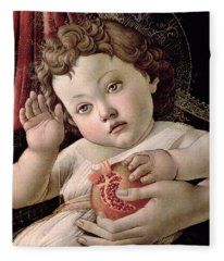 Detail Of The Christ Child From The Madonna Of The Pomegranate  Fleece Blanket