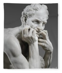 Detail Of Ugolino And His Sons Fleece Blanket