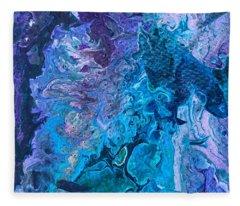 Detail Of Waves 6 Fleece Blanket