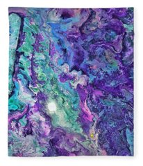 Detail Of Waves Fleece Blanket