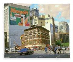 Detroit Michigan 84 - Watercolor Fleece Blanket